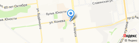 Орматек на карте Белгорода