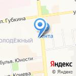 Берёзка на карте Белгорода