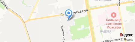 Белый холод на карте Белгорода