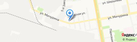 Белгеосинт на карте Белгорода