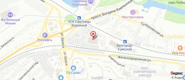 Карта расположения пункта доставки Белгород в городе Белгород