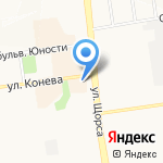 Салон белорусской мебели на карте Белгорода
