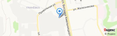 Элеос на карте Белгорода