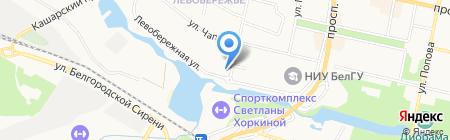 Везелица на карте Белгорода