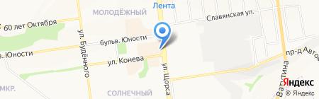 Зенит на карте Белгорода