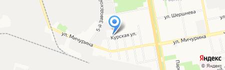 Рубин на карте Белгорода