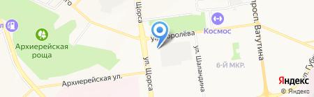 Акмелайт на карте Белгорода