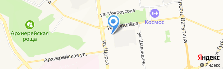 Вектор на карте Белгорода
