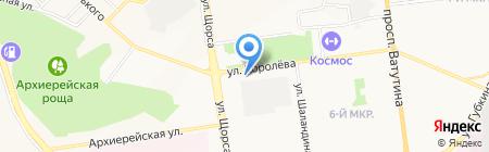 Вилон на карте Белгорода