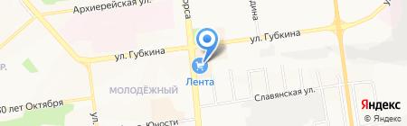 Банкомат Банк Уралсиб на карте Белгорода