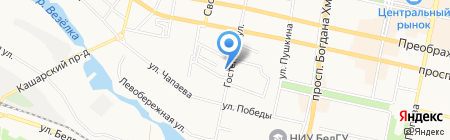 Цветы для Вас на карте Белгорода