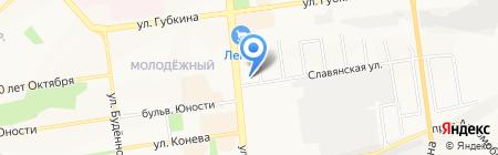 Шарманка на карте Белгорода