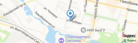 Кондитерская на карте Белгорода