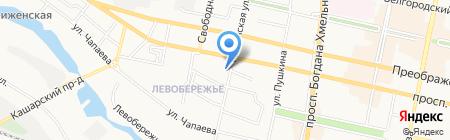 Левобережье на карте Белгорода
