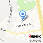 Крепыш на карте Белгорода