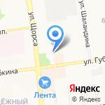 Тенториум на карте Белгорода