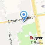 Махаон на карте Белгорода