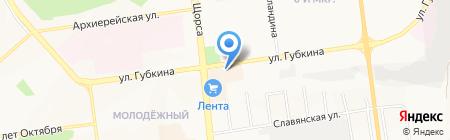Дарислава на карте Белгорода