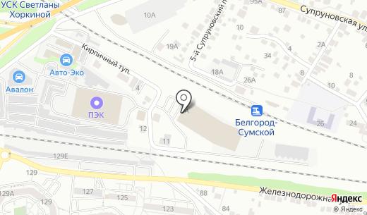 Эстейт Проект. Схема проезда в Белгороде
