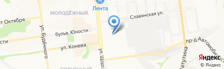 Криола на карте Белгорода