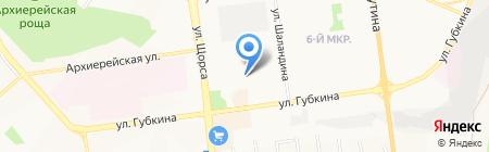 Продуктовый магазин на карте Белгорода