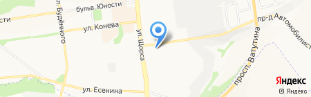 Алиса на карте Белгорода