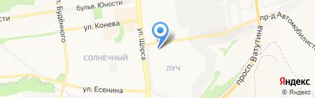 Умница на карте Белгорода