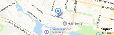 Ридикюль на карте Белгорода