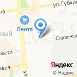 Автобаня на карте Белгорода