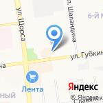 Винни на карте Белгорода