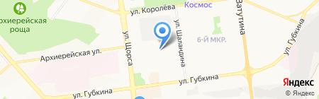 Строящийся жилой комплекс на карте Белгорода