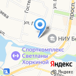 Белгородский государственный национальный исследовательский университет на карте Белгорода