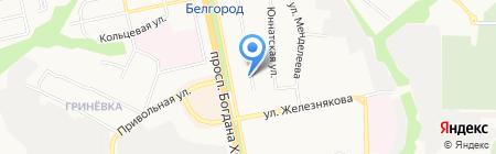 Мелана на карте Белгорода
