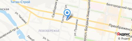 АКБ Мособлбанк на карте Белгорода
