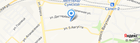 Красуля на карте Белгорода
