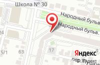 Схема проезда до компании Солнечный берег в Белгороде