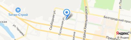 Солнечный Берег на карте Белгорода