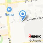 Славянский на карте Белгорода
