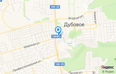 Местоположение на карте пункта техосмотра по адресу Белгородская обл, Белгородский р-н, п Дубовое, ул Лесная, д 1Д