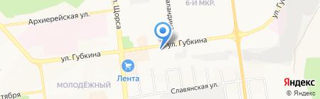 Спектра на карте Белгорода