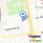 Шахтспецстрой на карте Белгорода