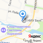 Высшая школа управления на карте Белгорода