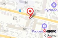Схема проезда до компании ИнвестСервис в Белгороде