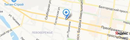 Автокомплекс на Преображенской на карте Белгорода