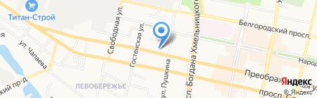 НАТС на карте Белгорода