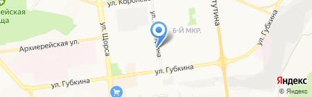 Хрусталь Белогорья на карте Белгорода