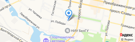 Валентина на карте Белгорода