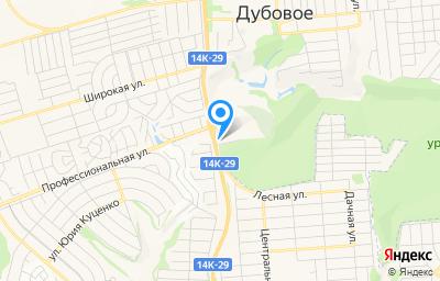 Местоположение на карте пункта техосмотра по адресу Белгородская обл, Белгородский р-н, мкр Юго-Западный (п Дубовое), ул Донецкая, д 2