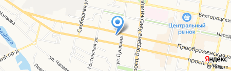 МСК на карте Белгорода