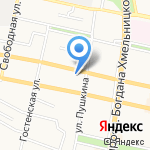 Электрощит на карте Белгорода